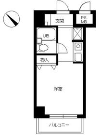 スカイコート品川69階Fの間取り画像