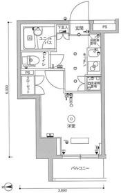 スカイコート武蔵小杉壱番館3階Fの間取り画像