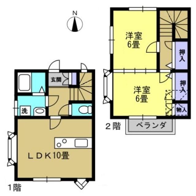 10帖LDK・洋6帖・洋6帖・ロフト付