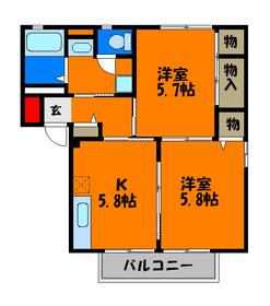 使いやすい約6帖の洋室が3つ!