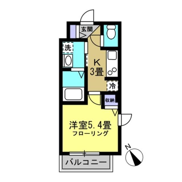 K3帖、洋室5.4帖
