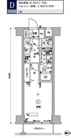 スカイコート木場ガーデン4階Fの間取り画像