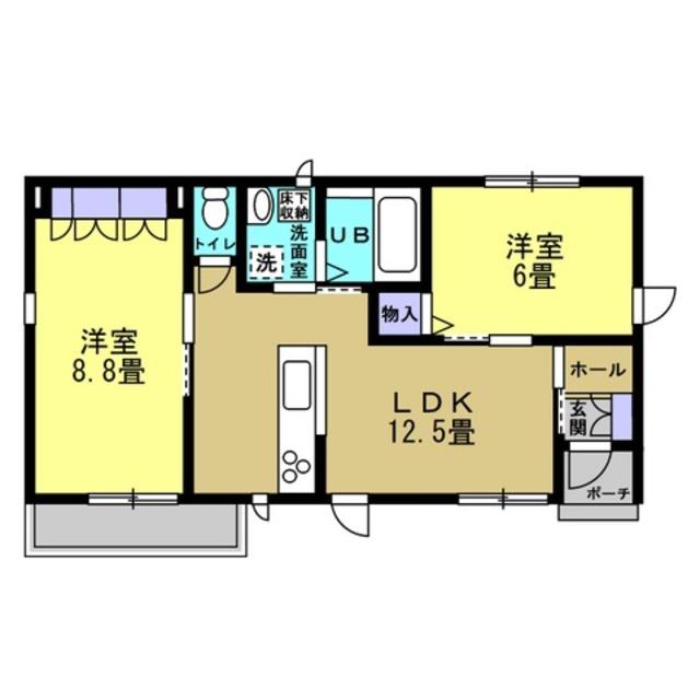 LDK12.5帖 洋室6帖 洋室8.8帖