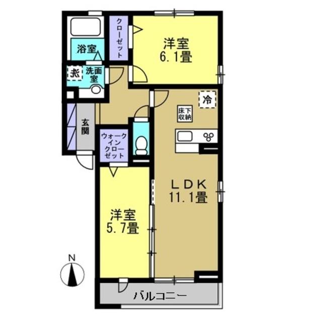 LDK11.1帖・洋室6.1帖・洋室5.7帖