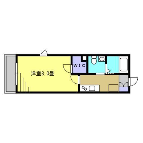 1K 洋室8帖