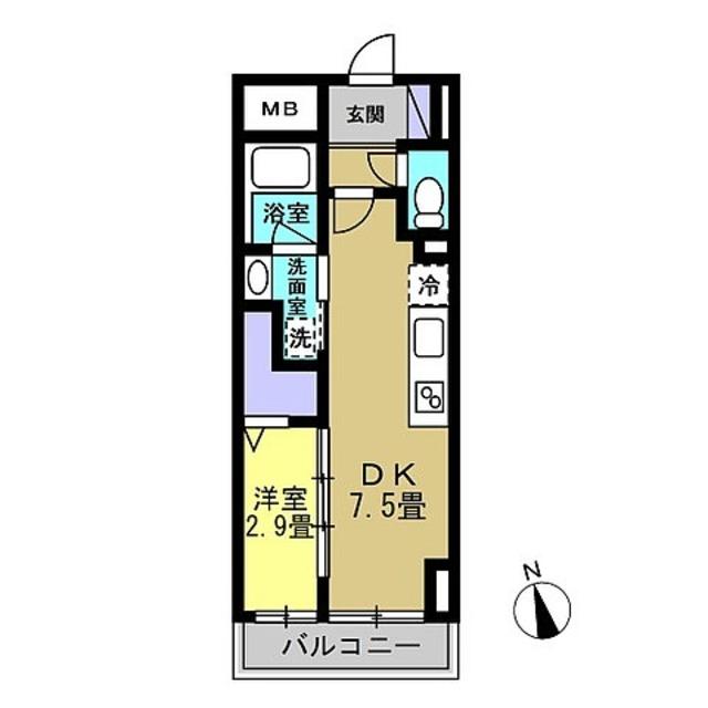 DK7.5・洋室2.9帖