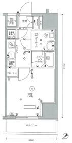 スカイコートパレス西巣鴨Ⅱ8階Fの間取り画像
