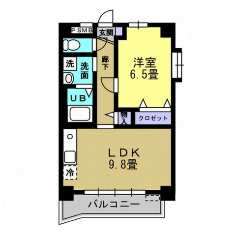 1LDK LDK9.8 洋6.5