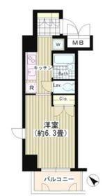 タキミハウス渋谷3階Fの間取り画像