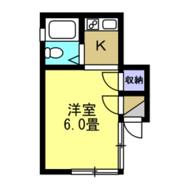 1K 洋室6帖