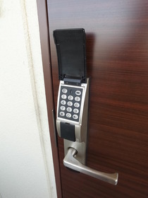 お部屋の鍵は暗証番号!