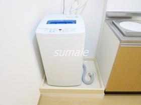 洗濯機置場キッチン横にあります♪