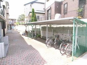屋根付き自転車置場♪