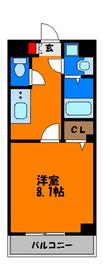 バストイレ別、室内洗濯機置場の広めの1Kです☆