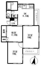 上野毛駅 徒歩7分2階Fの間取り画像