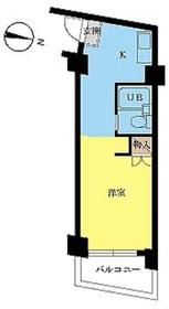 スカイコート西川口第27階Fの間取り画像