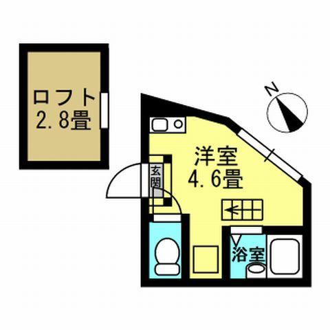 間取り図 洋室4.6帖 ロフト2.8帖