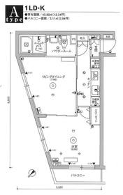 スカイコート品川パークサイドⅢ5階Fの間取り画像