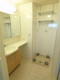 ゆったりした洗面スペース
