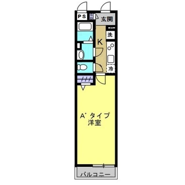 1K/洋室6.9帖