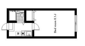 コルティーレ目黒大岡山2階Fの間取り画像