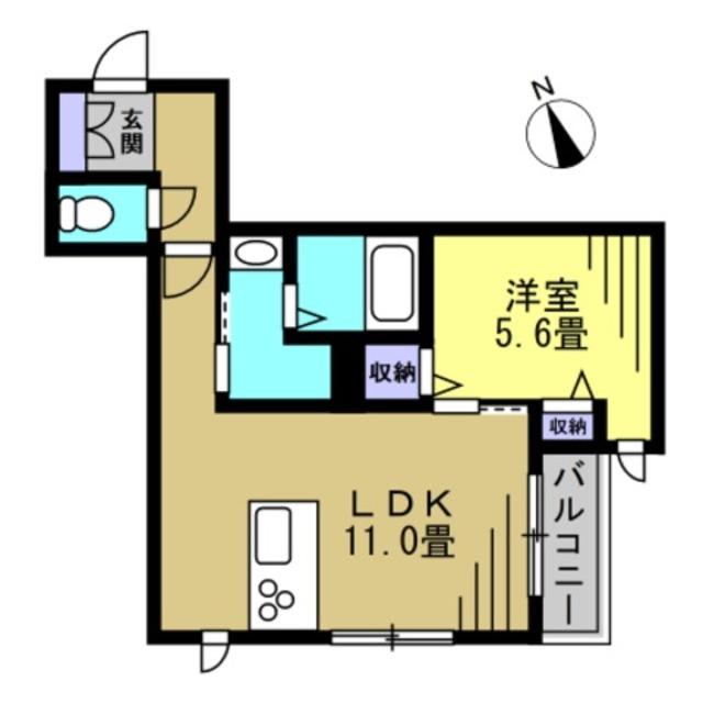 洋5.6帖 LDK11帖