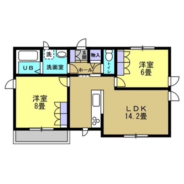 LDK14.2帖 洋室6帖 洋室8帖