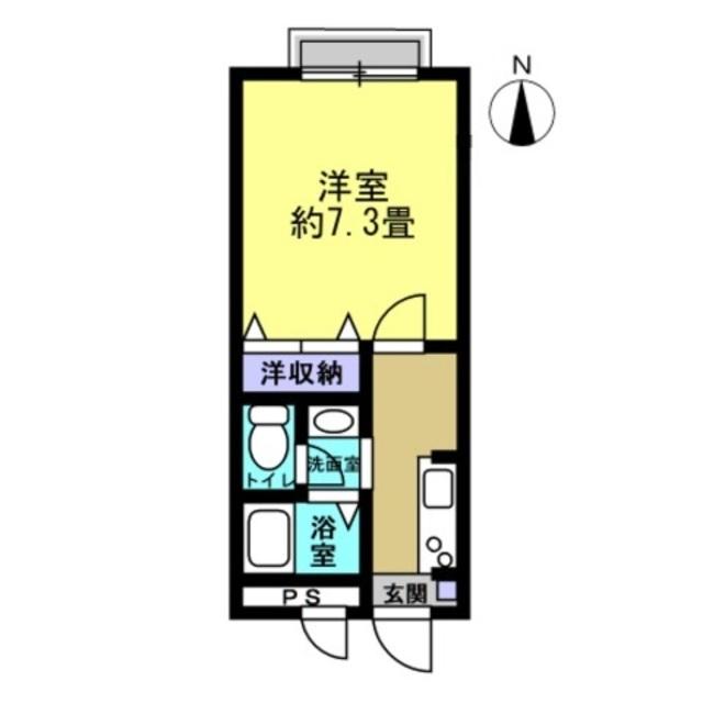 洋室7.3帖