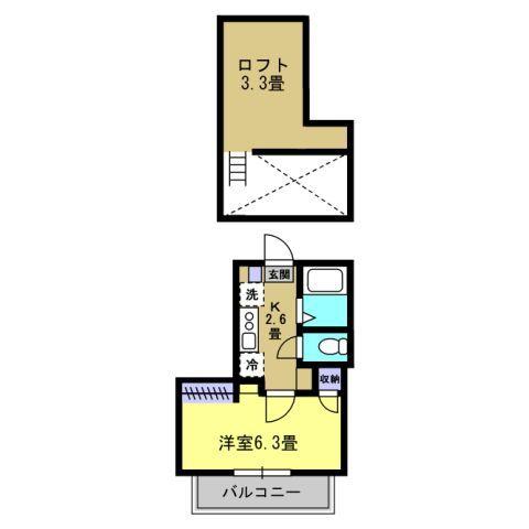 K/洋6.3 ロフト3.3帖
