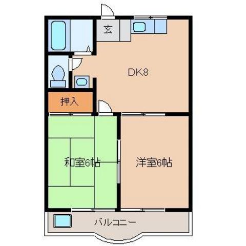 DK8 洋室6 和室6