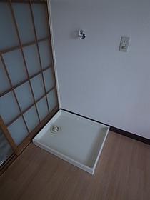 もちろん洗濯機は室内置きです♪
