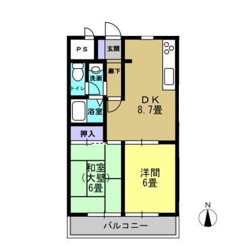 DK8.5 洋室6 和室6