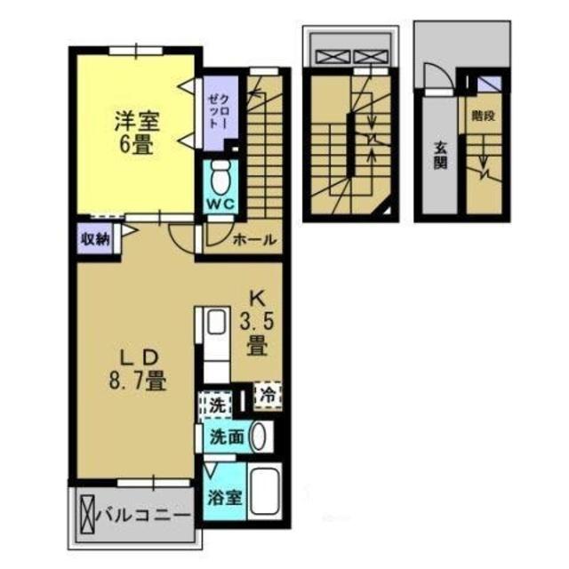 LDK12.2帖、洋室6帖