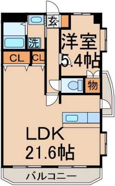 洋5.4帖 LDK21.6帖