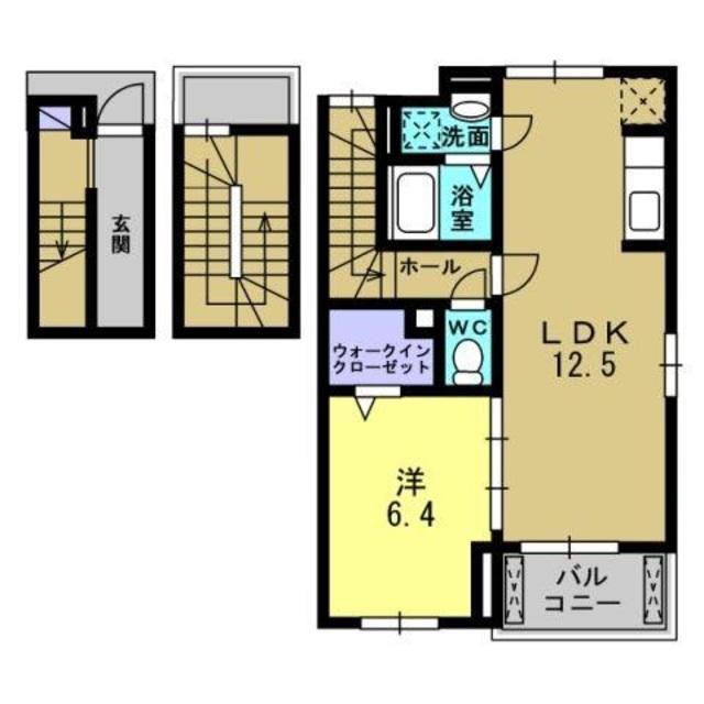 LDK12.5・洋室6.4帖