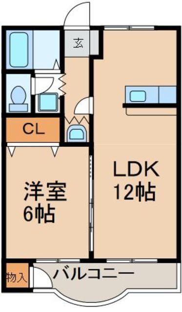 洋6帖 LDK12帖