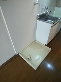 もちろん洗濯機は室内置きです☆