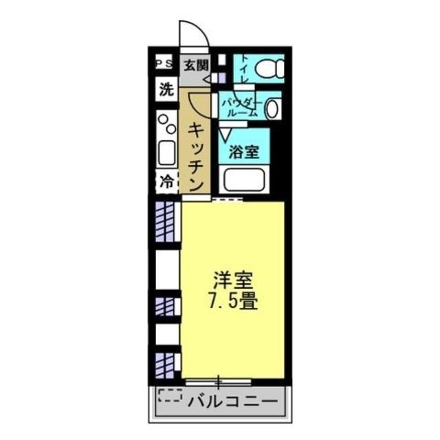 洋室7.5帖