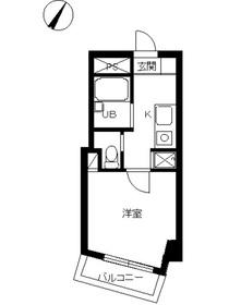 スカイコート目黒壱番館3階Fの間取り画像