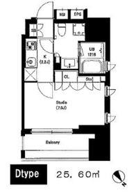 中目黒ウェスト5階Fの間取り画像
