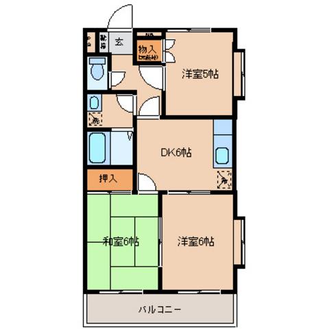 和室6 洋室6 DK6 洋室5