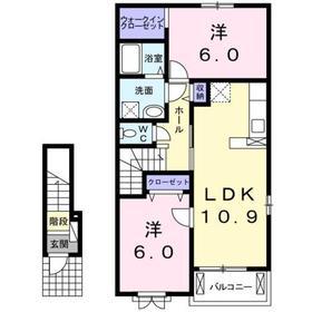 2LDK 57.19平米 5.9万円 愛媛県四国中央市川之江町