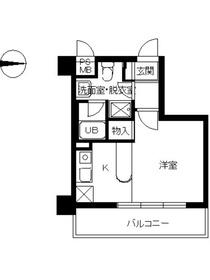 スカイコート新高円寺6階Fの間取り画像