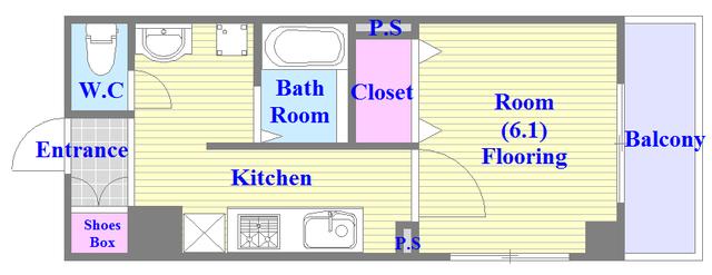 バス・トイレがセパレート、各所に収納がある使いやすい間取り。