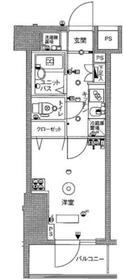 スカイコート蒲田壱番館6階Fの間取り画像