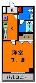 広々洋室7.8帖!使い勝手の良い間取りです!