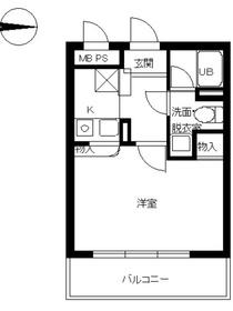 スカイコート新高円寺3階Fの間取り画像