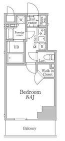 レジディア三軒茶屋Ⅲ2階Fの間取り画像