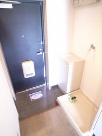 シューズボックス&室内洗濯機置き場