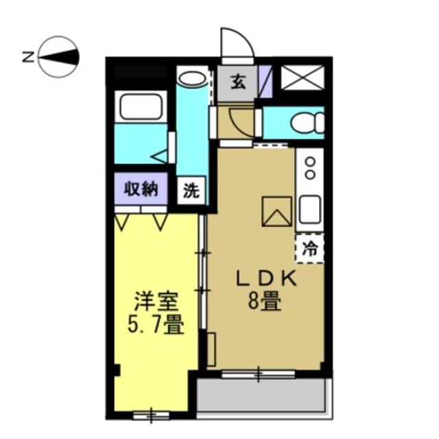 LDK8帖 洋室5.7帖